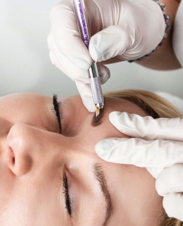Волосковая техника перманентного макияжа бровей Ако - Крайот - Израиль